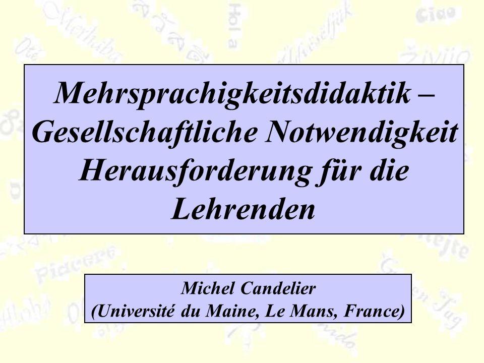 Michel Candelier (Université du Maine, Le Mans, France)