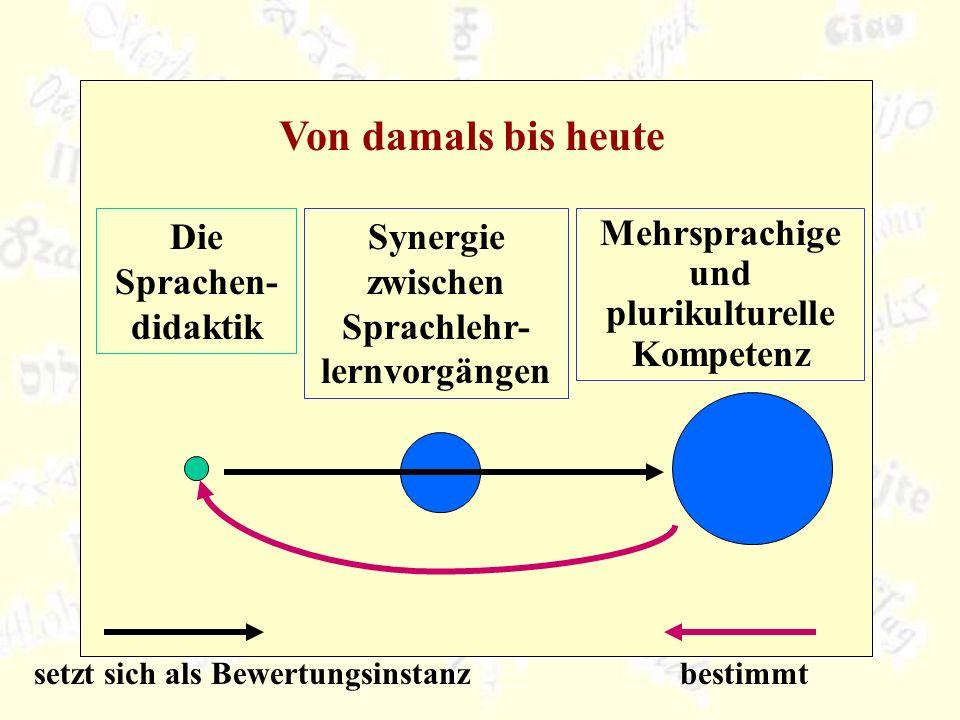 Von damals bis heute Die Sprachen-didaktik