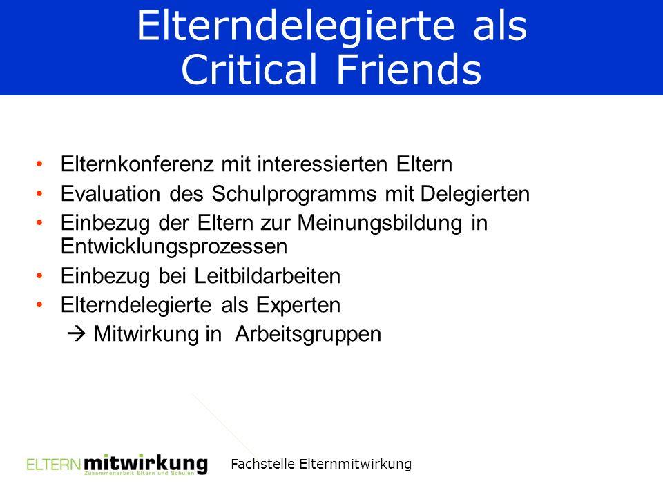 Elterndelegierte als Critical Friends