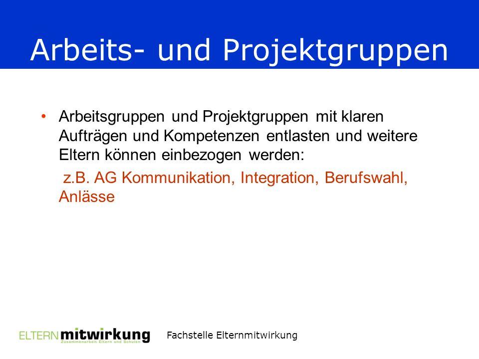 Arbeits- und Projektgruppen