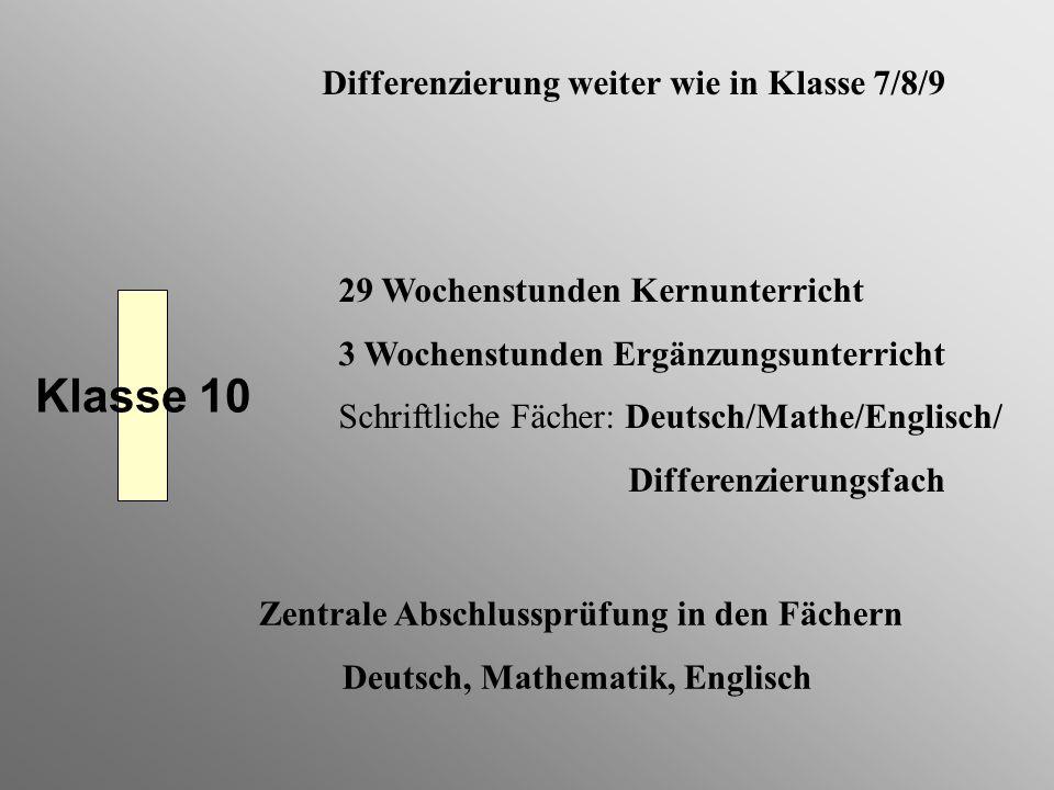Deutsch, Mathematik, Englisch