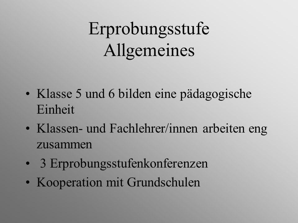 Erprobungsstufe Allgemeines