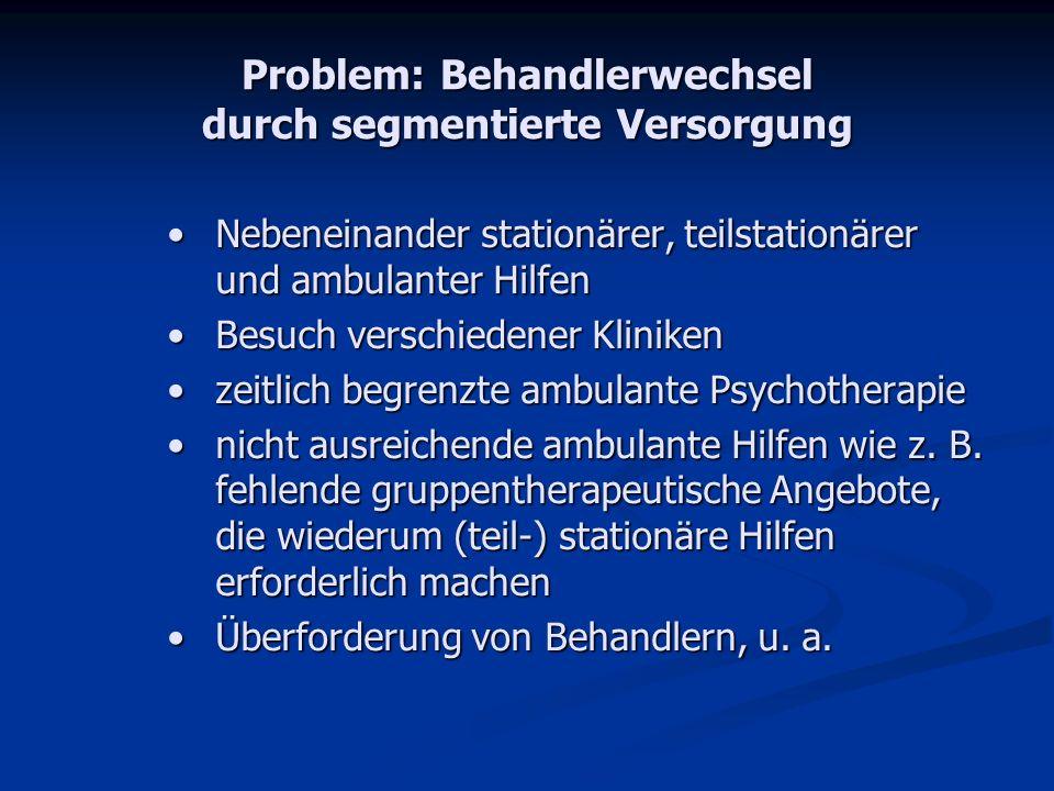 Problem: Behandlerwechsel durch segmentierte Versorgung