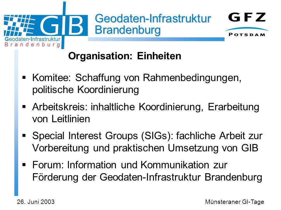 Organisation: Einheiten