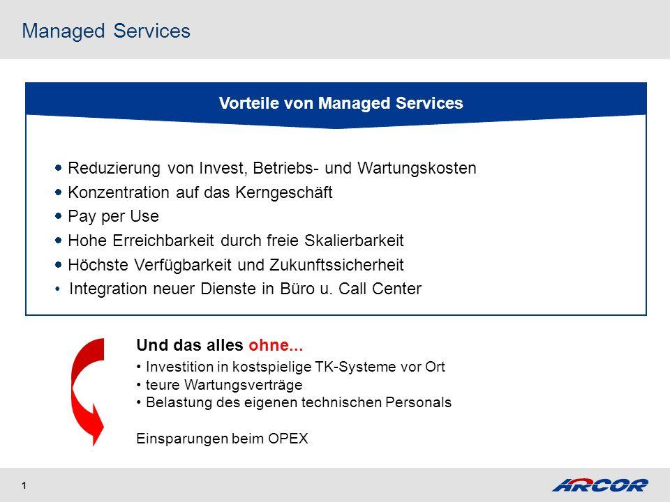Managed Services in der Kundenbetreuung Lösungen von Arcor !