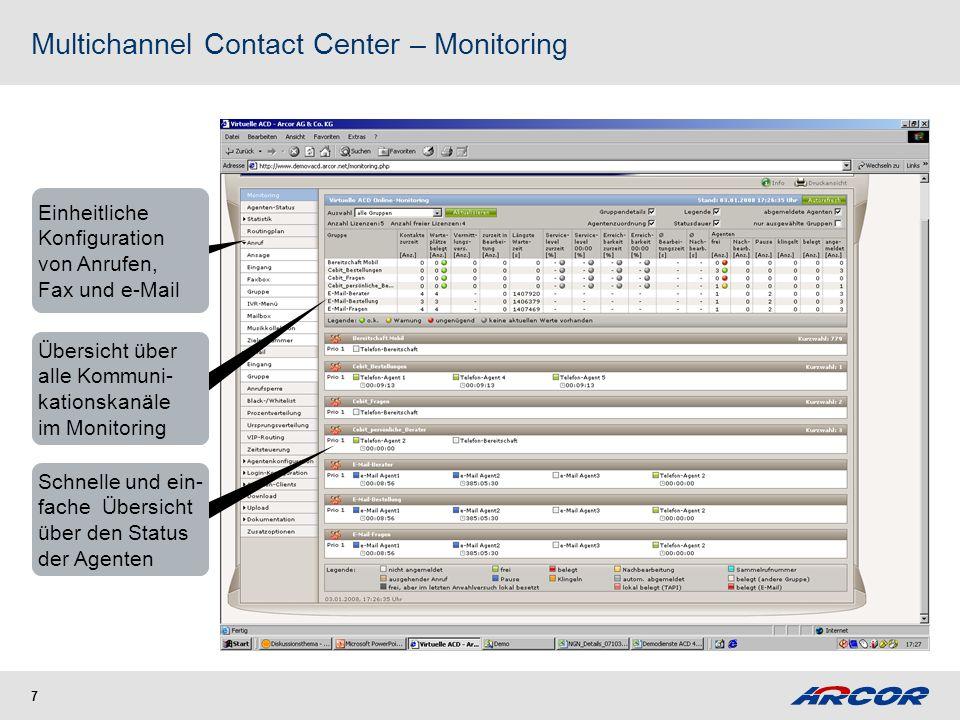 Multichannel Contact Center - Agenten-Client