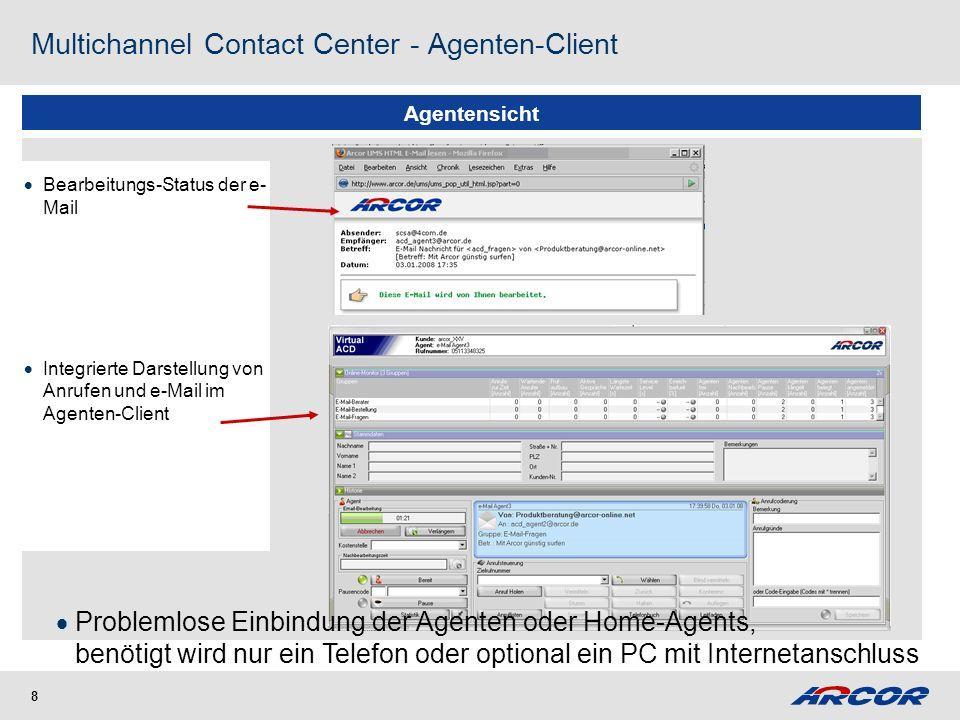 Beispiel 3 IP-Contact Center - Anrufverteilung im Next Generation Network