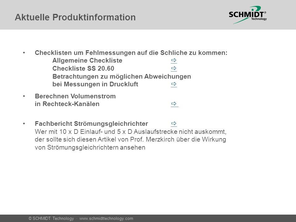 Aktuelle Produktinformation