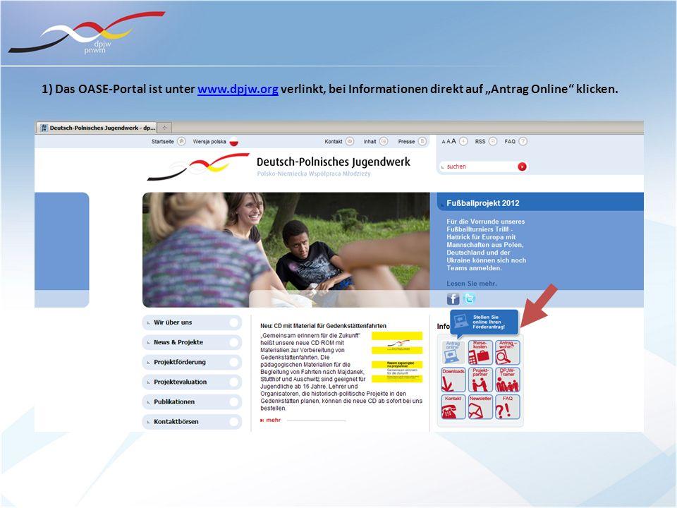 1) Das OASE-Portal ist unter www. dpjw