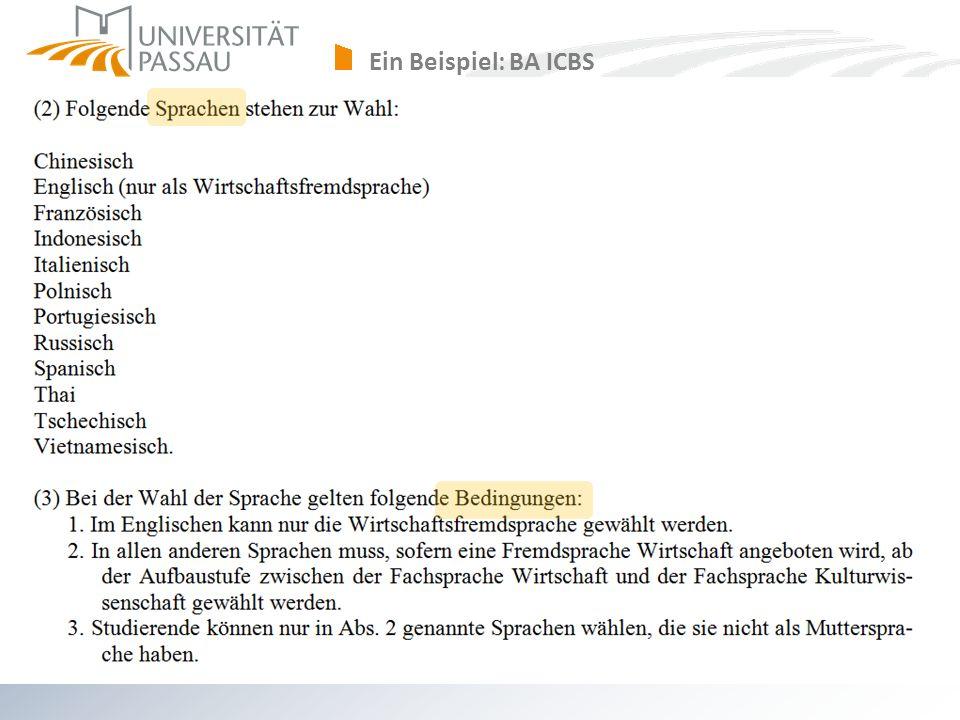 Ein Beispiel: BA ICBS axel.polleti@uni-passau.de