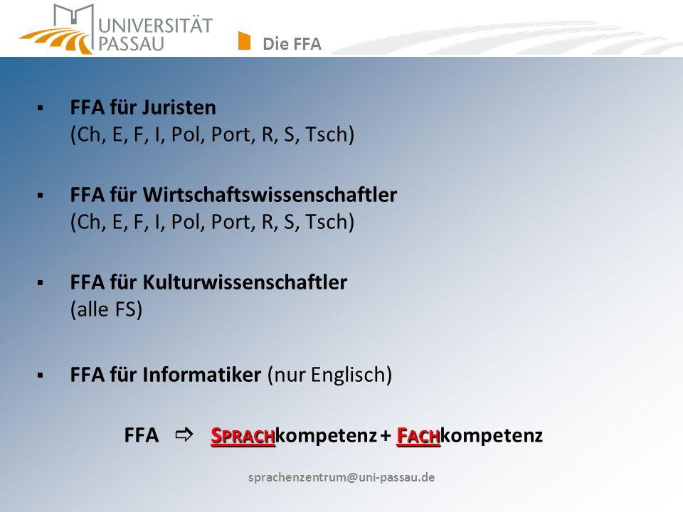 FFA für Juristen (Ch, E, F, I, Pol, Port, R, S, Tsch)