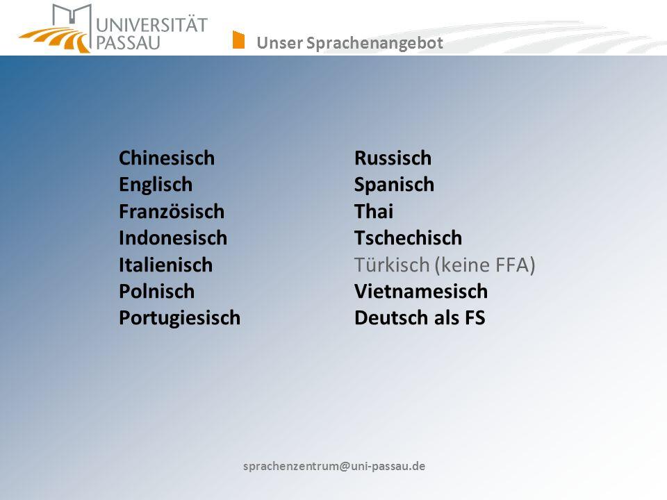Unser Sprachenangebot