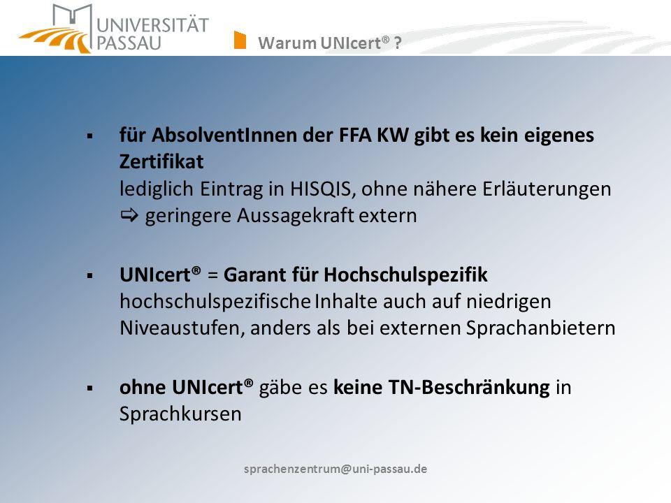 ohne UNIcert® gäbe es keine TN-Beschränkung in Sprachkursen