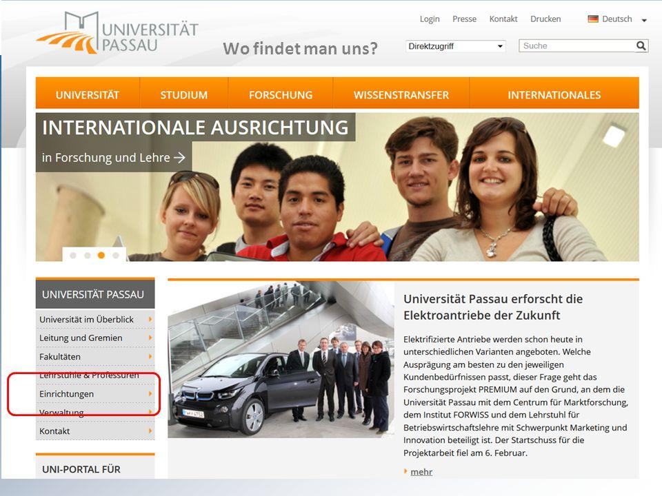 Wo sind wir Wo findet man uns sprachenzentrum@uni-passau.de