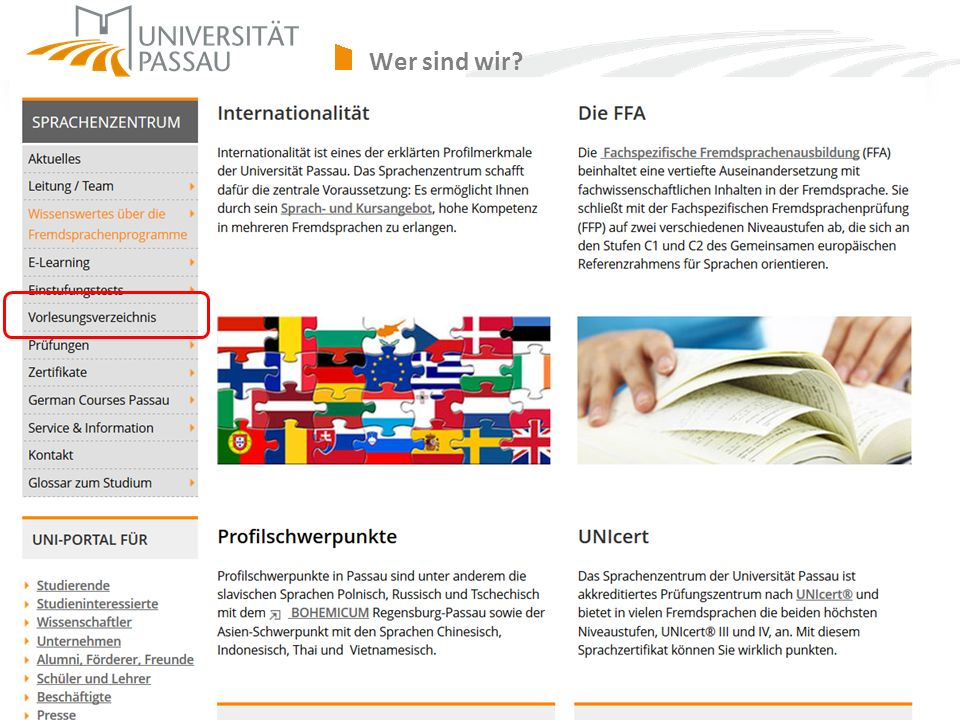 Wer sind wir sprachenzentrum@uni-passau.de