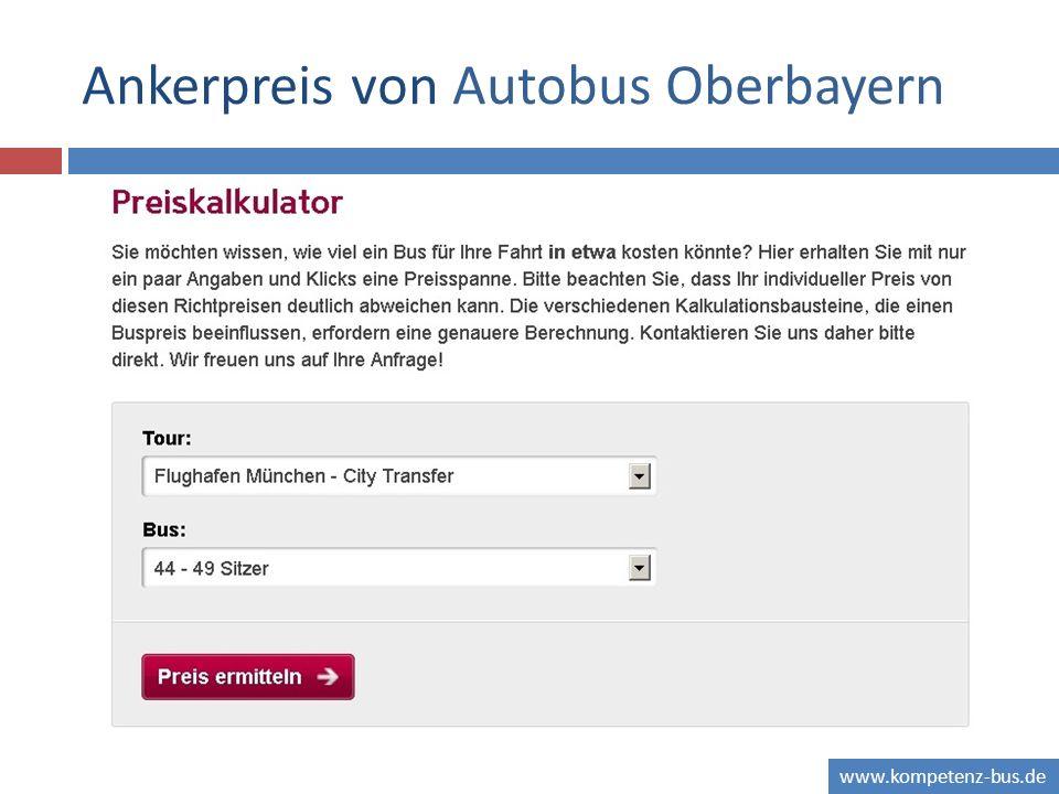 Ankerpreis von Autobus Oberbayern