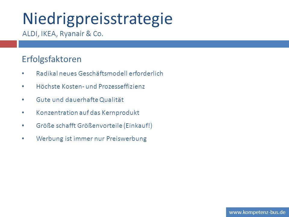 Niedrigpreisstrategie ALDI, IKEA, Ryanair & Co.