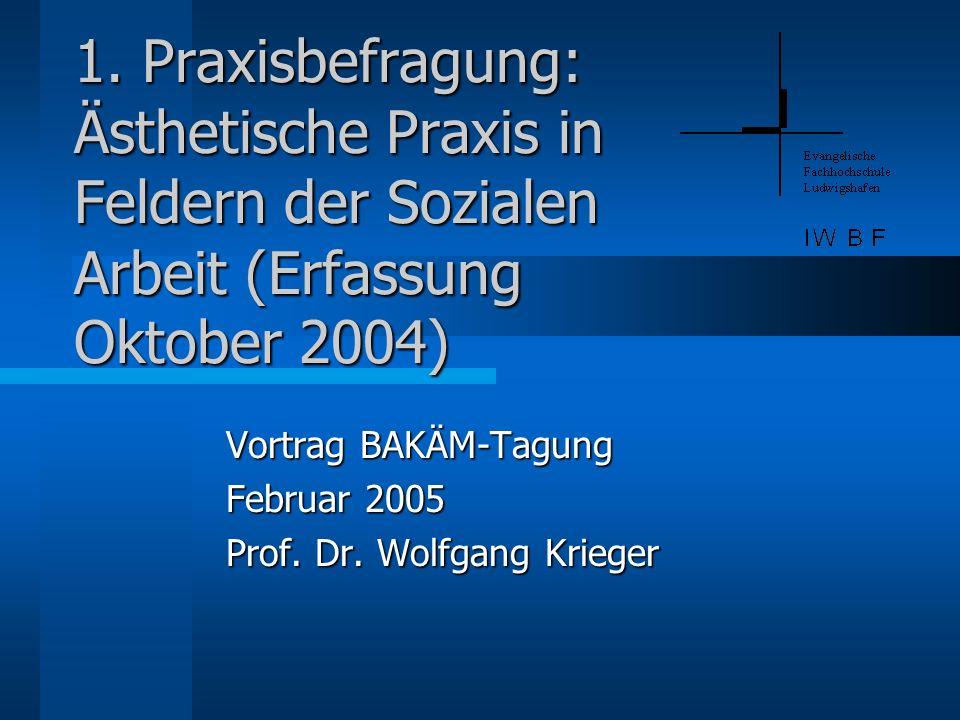 Vortrag BAKÄM-Tagung Februar 2005 Prof. Dr. Wolfgang Krieger