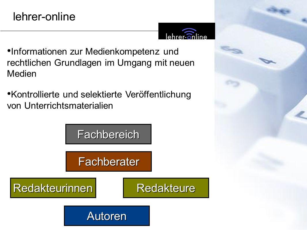 lehrer-online Fachbereich Fachberater Redakteurinnen Redakteure