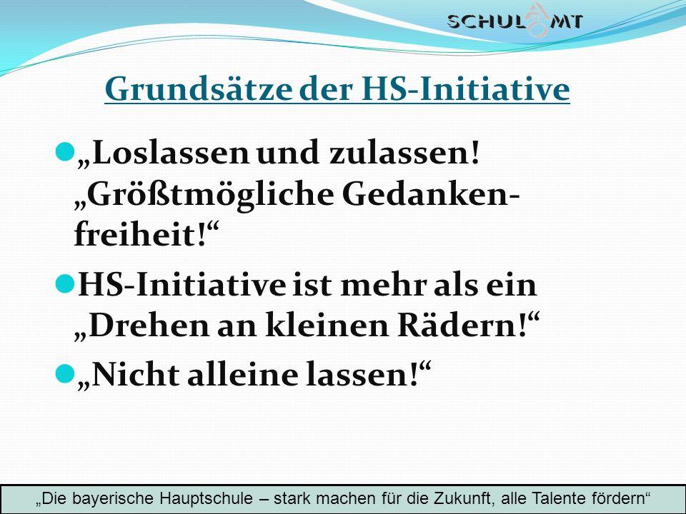 Grundsätze der HS-Initiative