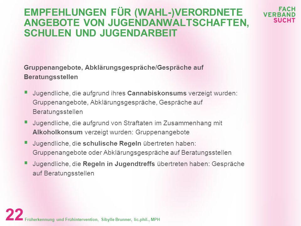 EMPFEHLUNGEN FÜR (WAHL-)VERORDNETE ANGEBOTE VON JUGENDANWALTSCHAFTEN, SCHULEN UND JUGENDARBEIT