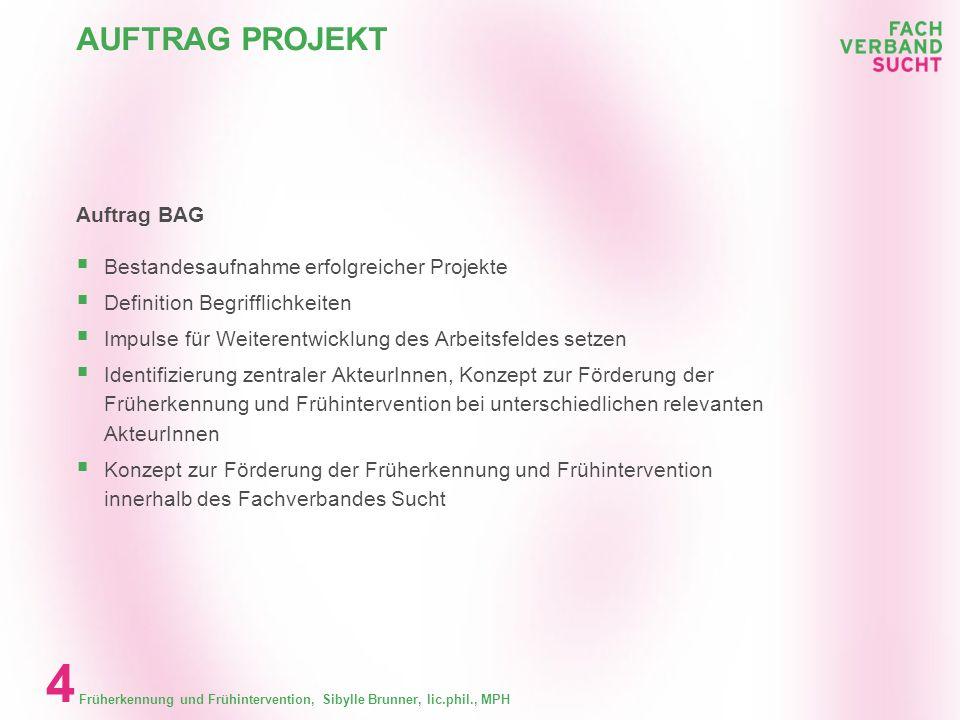 AUFTRAG PROJEKT Auftrag BAG Bestandesaufnahme erfolgreicher Projekte