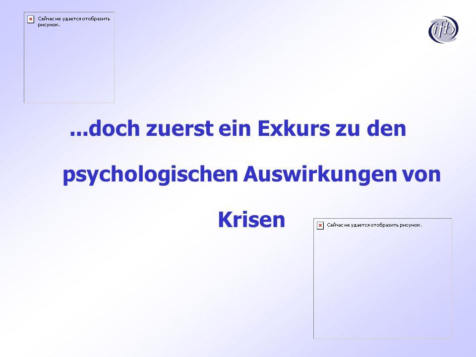 ...doch zuerst ein Exkurs zu den psychologischen Auswirkungen von Krisen