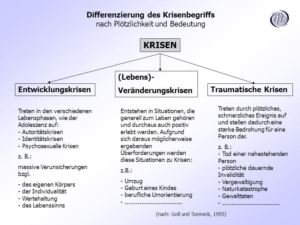 Differenzierung des Krisenbegriffs