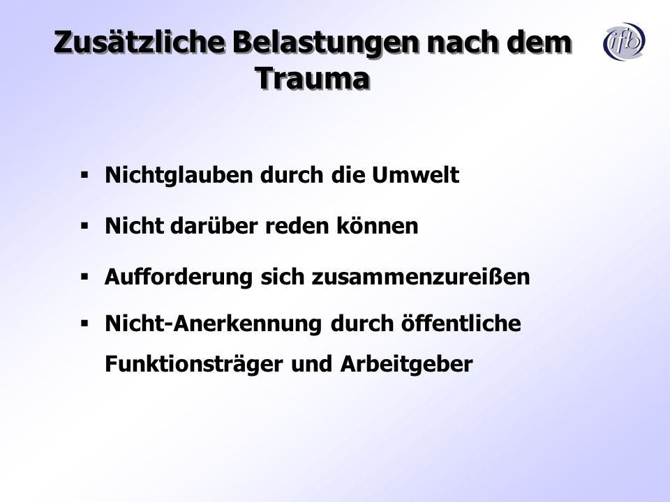 Zusätzliche Belastungen nach dem Trauma