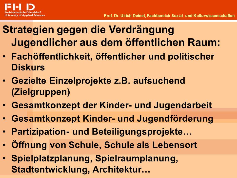 Prof. Dr. Ulrich Deinet, Fachbereich Sozial- und Kulturwissenschaften