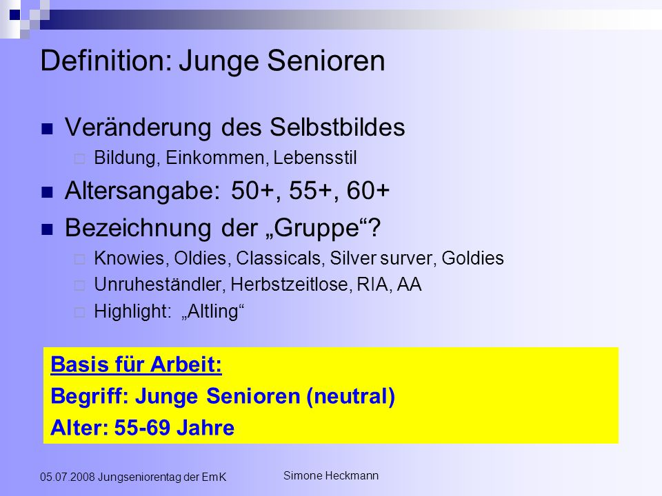 Definition: Junge Senioren