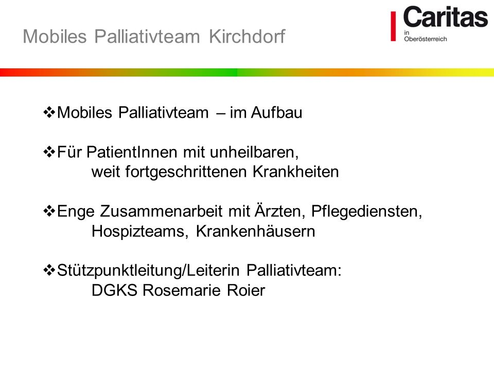 Mobiles Palliativteam Kirchdorf