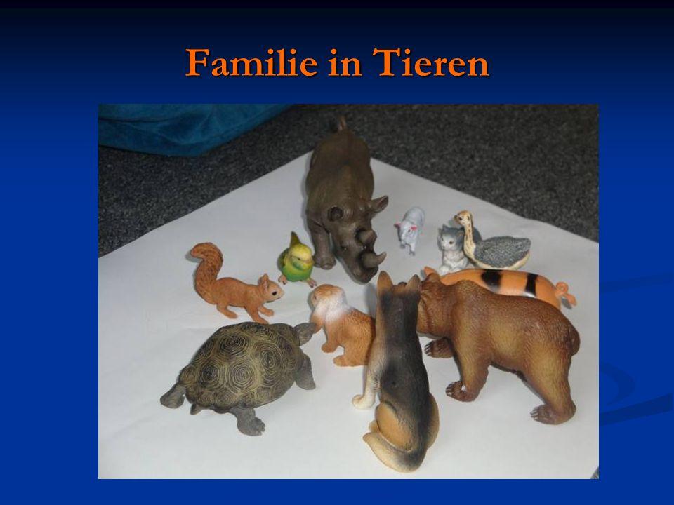 Familie in Tieren