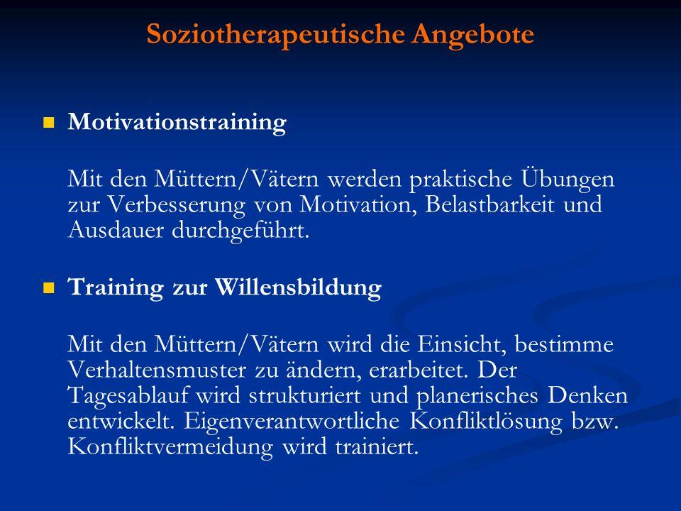 Soziotherapeutische Angebote