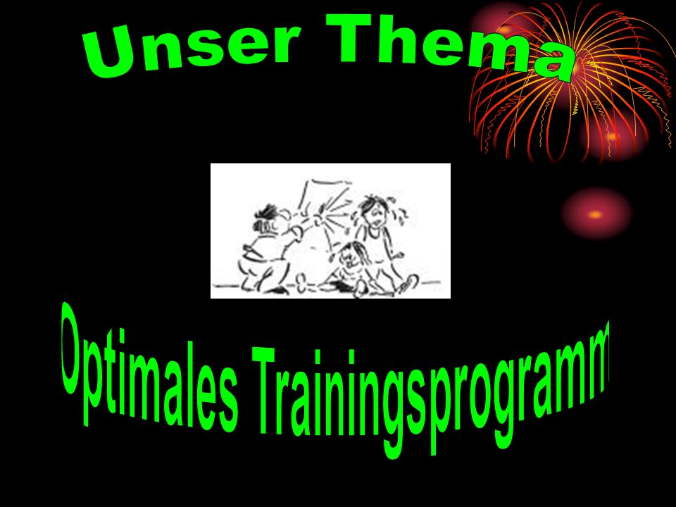 Optimales Trainingsprogramm