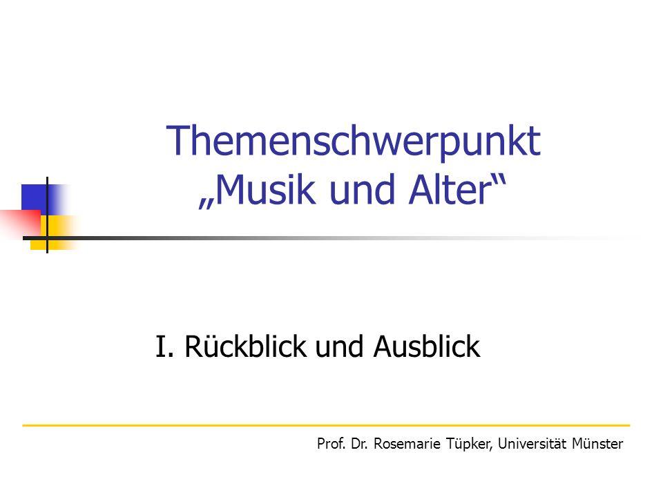 """Themenschwerpunkt """"Musik und Alter"""