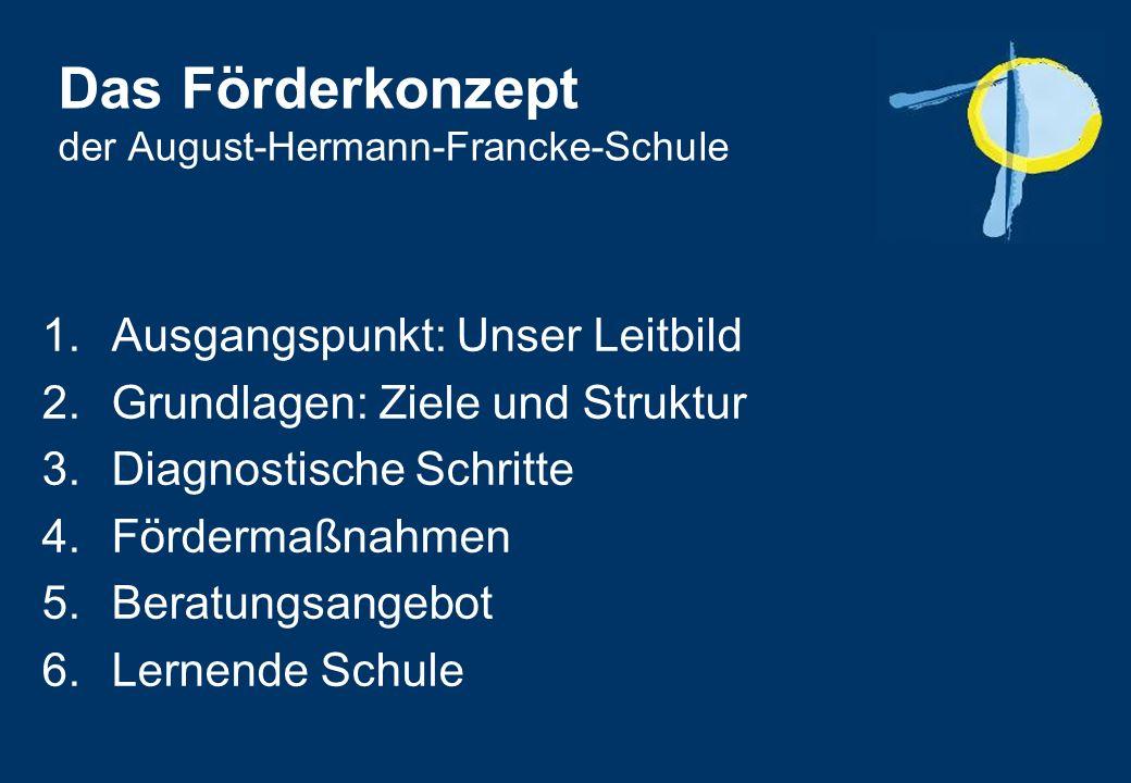 Das Förderkonzept der August-Hermann-Francke-Schule