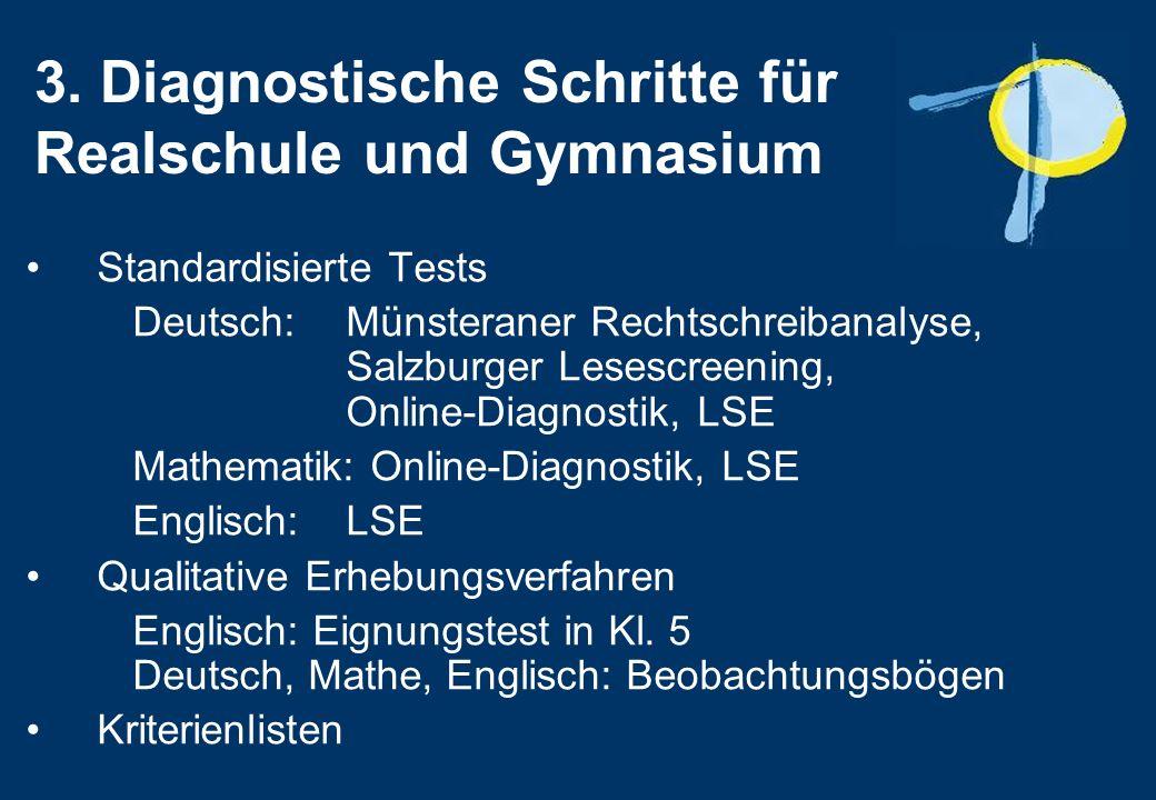 3. Diagnostische Schritte für Realschule und Gymnasium