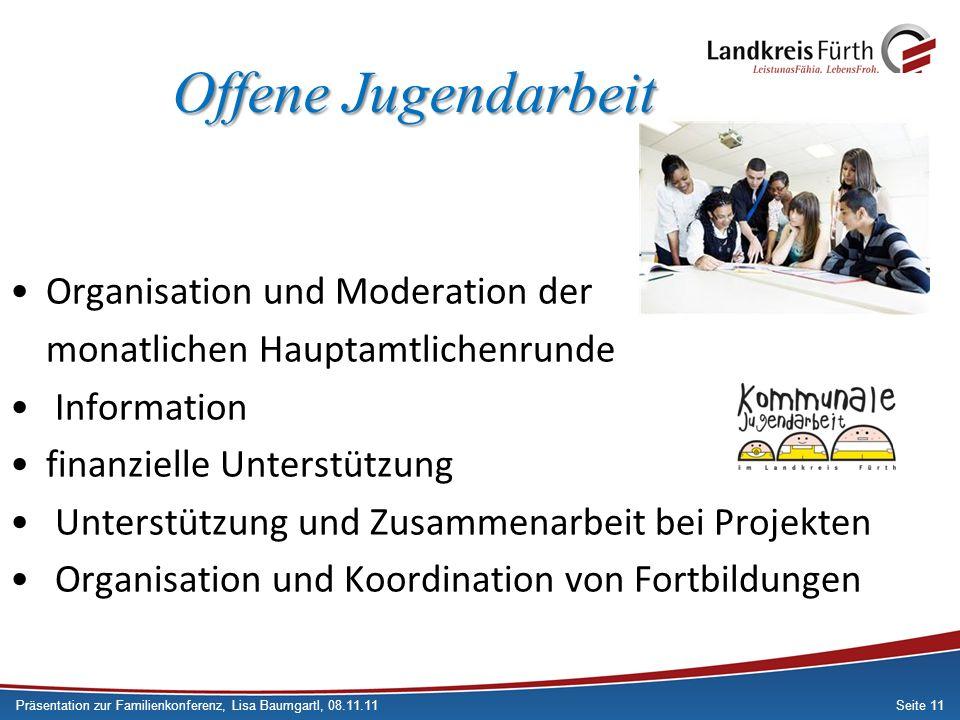 Offene Jugendarbeit Organisation und Moderation der
