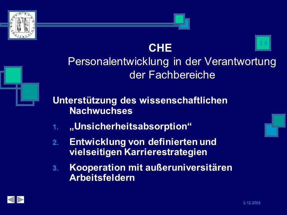 CHE Personalentwicklung in der Verantwortung der Fachbereiche