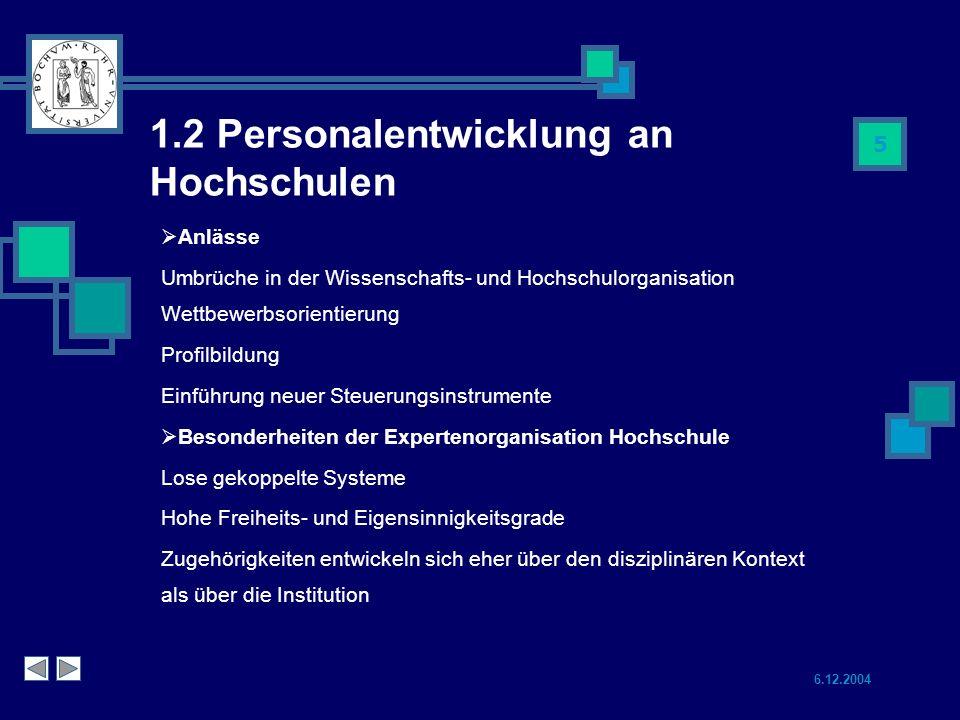 1.2 Personalentwicklung an Hochschulen