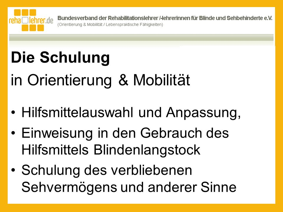 in Orientierung & Mobilität