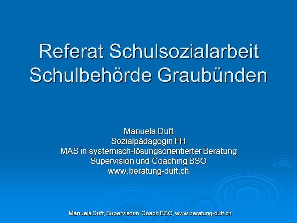 Referat Schulsozialarbeit Schulbehörde Graubünden