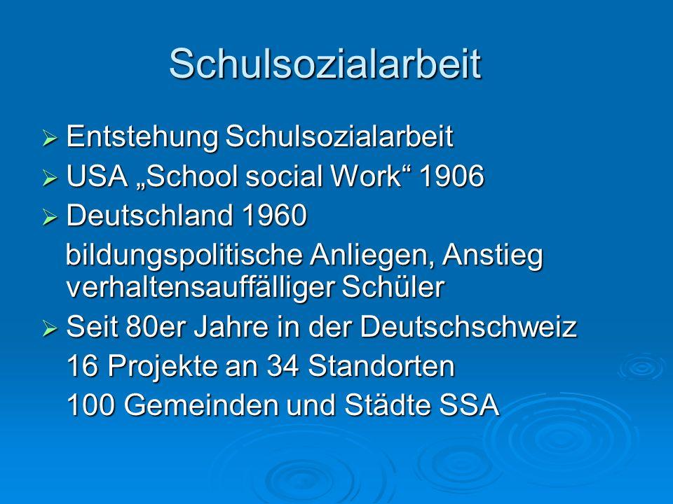 Schulsozialarbeit Entstehung Schulsozialarbeit