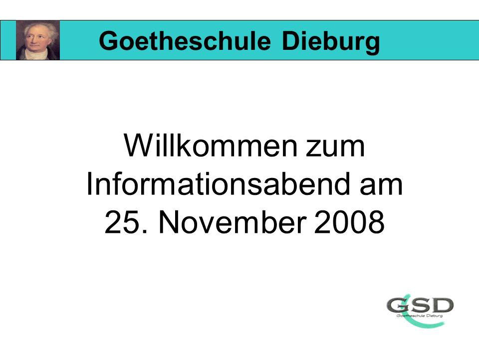 Willkommen zum Informationsabend am 25. November 2008