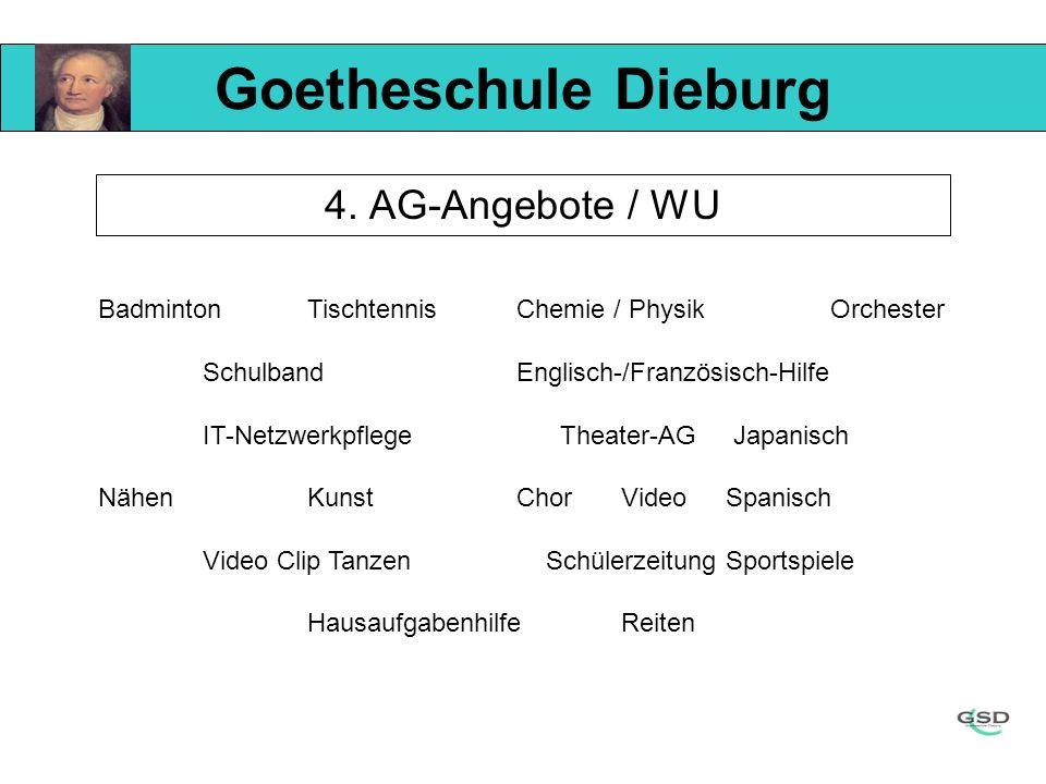 Goetheschule Dieburg 4. AG-Angebote / WU