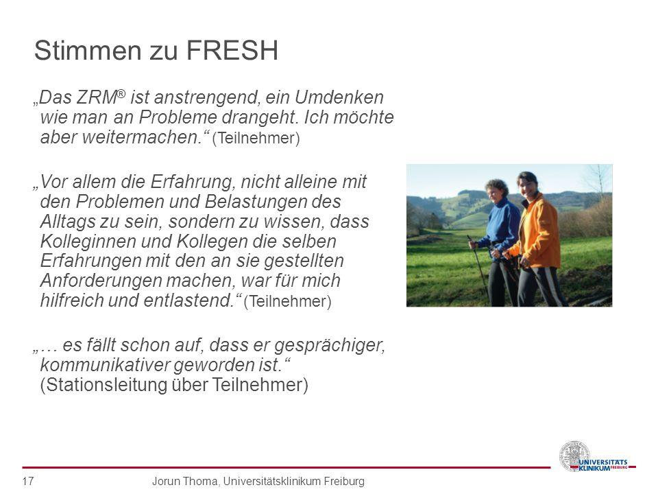 """Stimmen zu FRESH """"Das ZRM® ist anstrengend, ein Umdenken wie man an Probleme drangeht. Ich möchte aber weitermachen. (Teilnehmer)"""