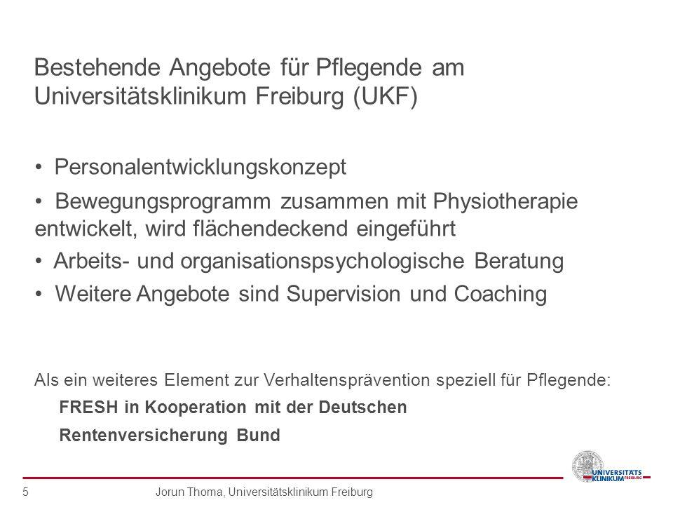 Bestehende Angebote für Pflegende am Universitätsklinikum Freiburg (UKF)
