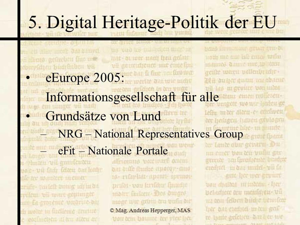 5. Digital Heritage-Politik der EU