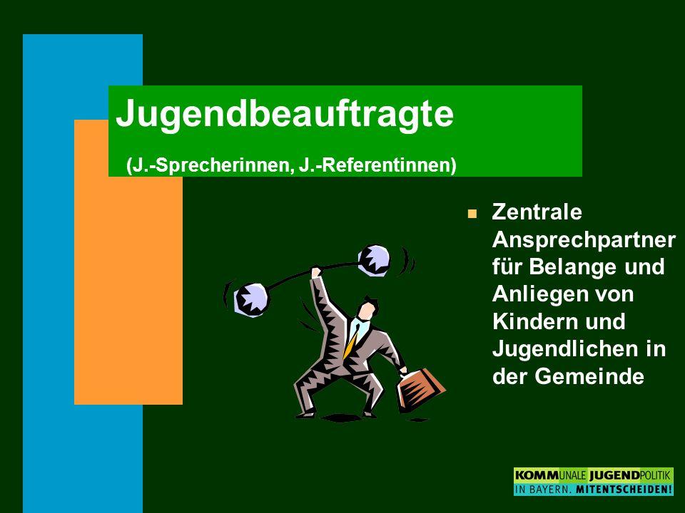 Jugendbeauftragte (J.-Sprecherinnen, J.-Referentinnen)